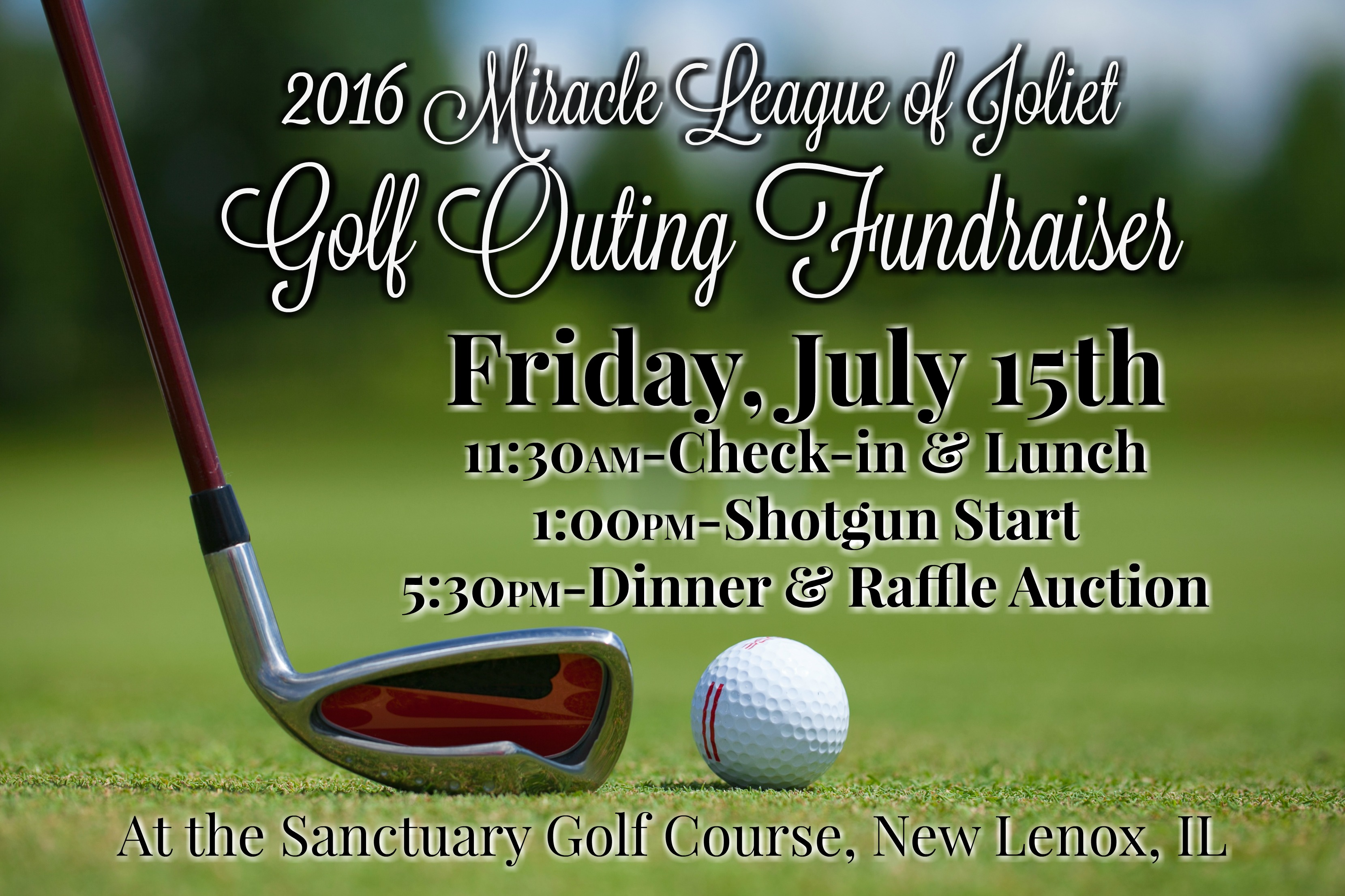 Golf Outing Fundraiser-July 15th, 2016